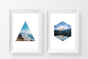 30 Geometric Photo Masks