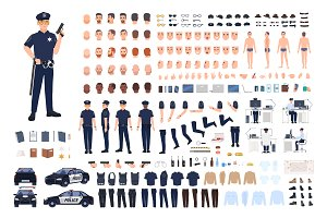 Policeman creation set or DIY kit