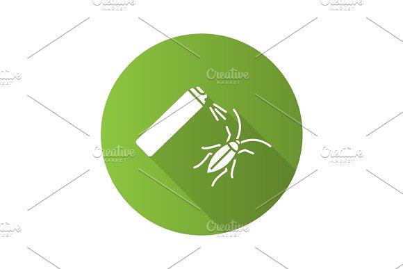 Roaches Bait Flat Design Long Shadow Glyph Icon