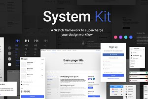System UI Kit for Sketch