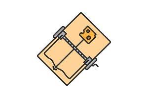 Mouse trap color icon