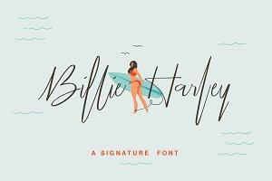 25% OFF Billie Harley Signature Font