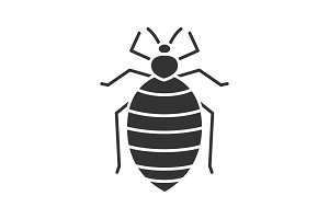 Bed bug glyph icon