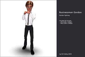 Businessman Gordon ready for a fight