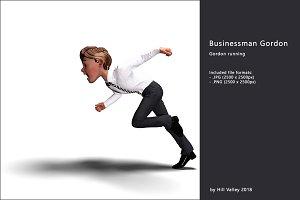 Businessman Gordon running
