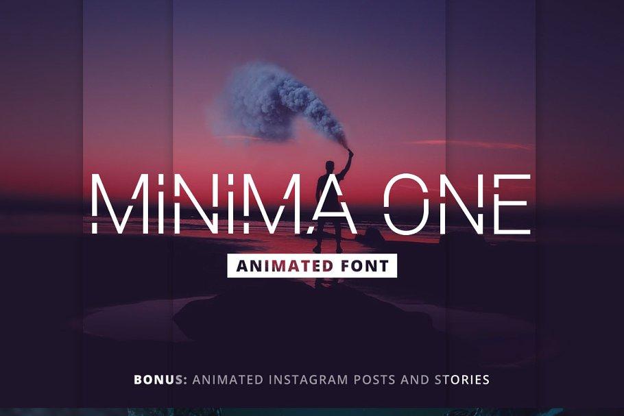 Minima One Animated Font Photoshop Sans Serif Fonts