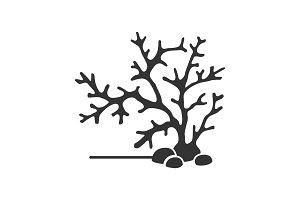 Aquarium plant glyph icon