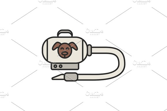 Pet hair vacuum cleaner color icon