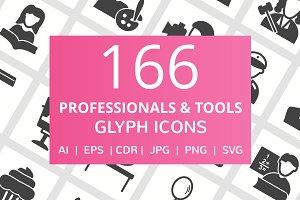 166 Professionals & Tools Glyph Icon