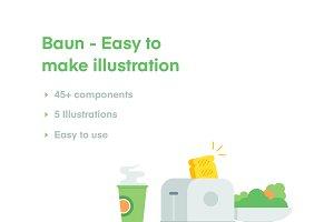 Baun - Easy to make illustration
