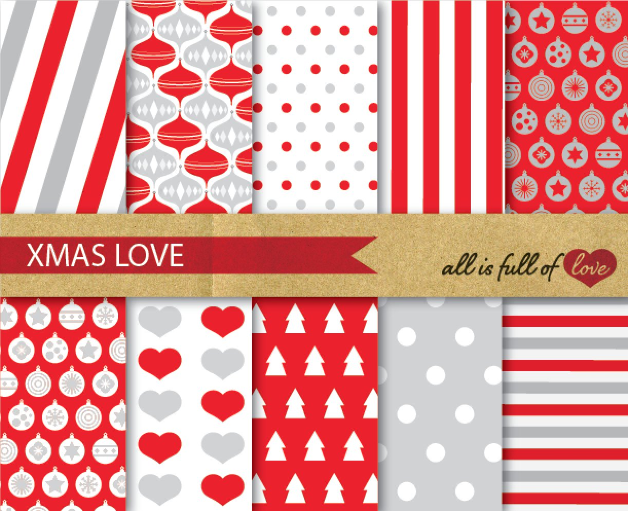 retro digital scrapbook xmas paper graphic patterns creative market