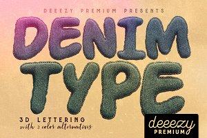 Denim - 3D Lettering