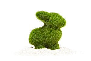 Easter Bunny Made Of Artificial Grass