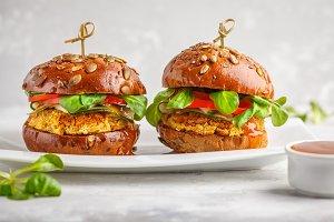 Vegan lentils burgers