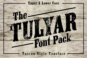 Tulyar Woodblock Font Pack