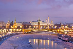 Moscow Kremlin at Winter. Russia