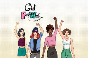 Feminism concept. Girl power!