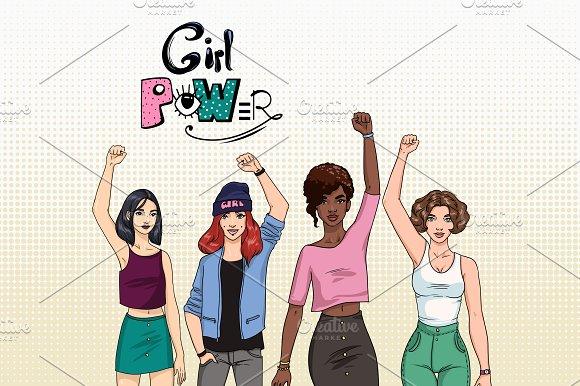 Feminism Concept Girl Power