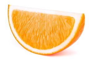 Ornge fruit slice isolated