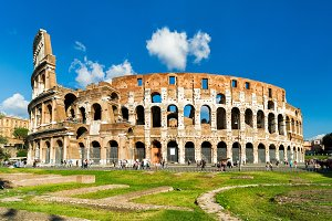Colosseum or Coliseum in Rome