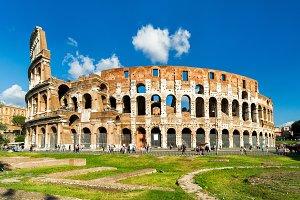 Colosseum or Coliseum in Rome