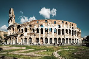 Colosseum or Coliseum in Rome, Italy