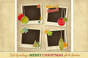 Vintage Christmas photo frames