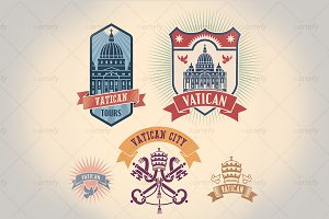 Vatican tour labels (5x)