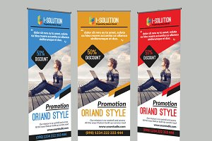 Business Roll up Outdoor Banners