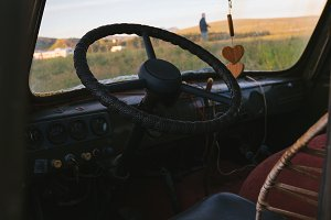 Hippie van abandoned