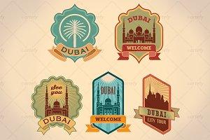 Dubai city tour labels (5x)