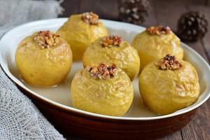 Baked and stuffed apples