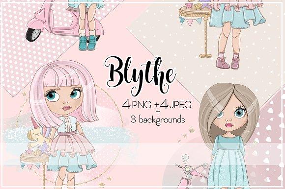 """Illustrations """"Blythe"""" Cute Girls"""