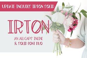 Irton Inline + Solid Sans Font Duo