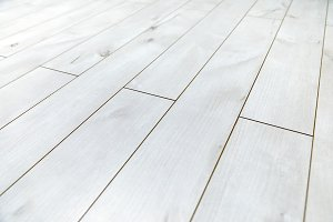 White wooden floor as background texture