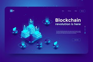 Blockchain - 3 illustrations