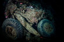 rests of truck in the thistlegorm