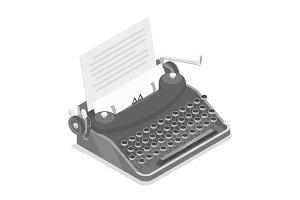 Black old style typewriter
