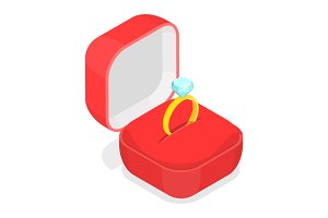 Wedding ring in a box