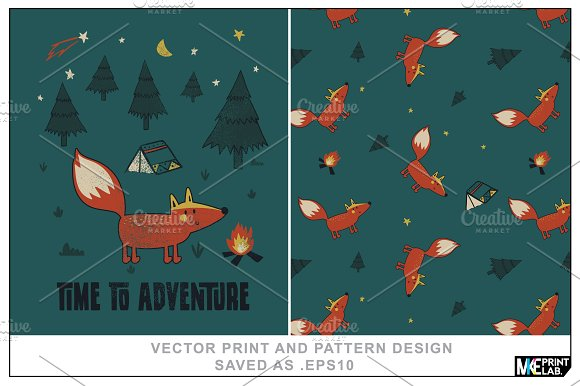 FOX CONCEPT PRINT AND PATTERN DESIGN