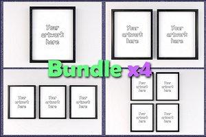 "Mockup minimal frames 8x10"" BUNDLEx4"