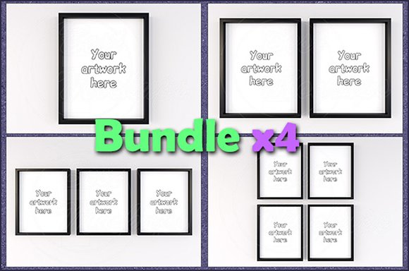 Mockup Minimal Frames 8x10 BUNDLEx4