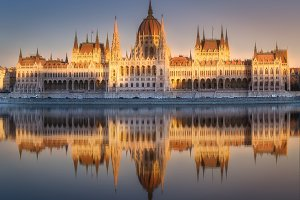 Building of Hungarian Parliament in