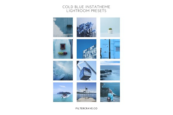 Cold Blue Lightroom Presets Theme