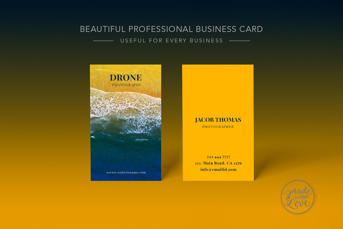 Drone Photography Business Card ~ Business Card Templates