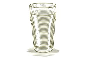 Woodcut Beer Glass