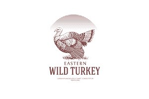Vintage Logo with Turkey