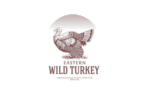 Vintage Style Logo With Turkey