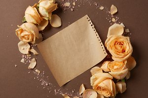 Craft paper and flowers
