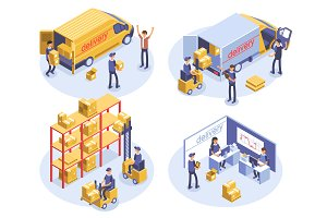 Delivery - 4 illustrations